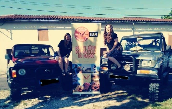 Equipe des Cogna'zelles pour le rallye des gazelles au Maroc